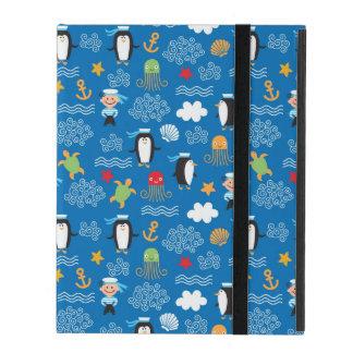 Étui iPad motif avec le thème de mer