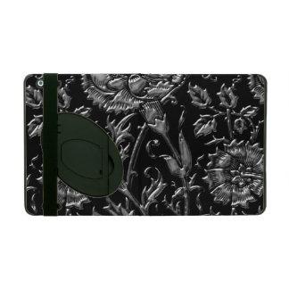 Étui iPad Motif floral coloré par argent