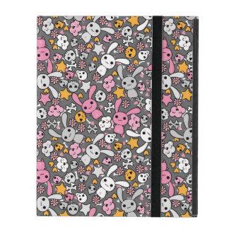 Étui iPad motif gris de kawaii