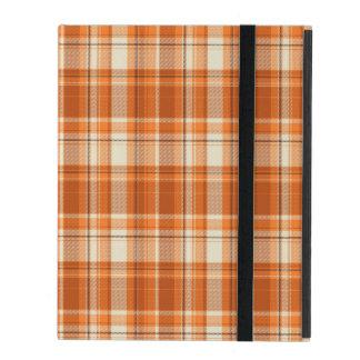 Étui iPad Plaid orange