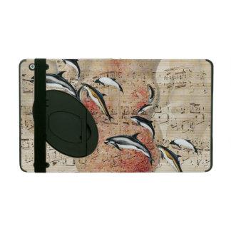 Étui iPad Poulpe et collage de dauphins