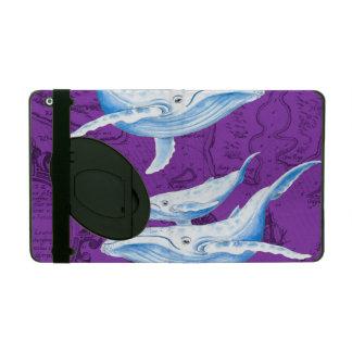 Étui iPad Pourpre de famille de baleines bleues