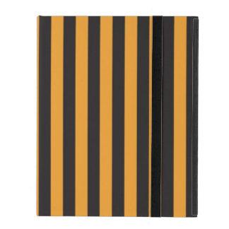 Étui iPad Rayures oranges et noires