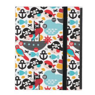Étui iPad Rétro navigation d'illustration de pirates