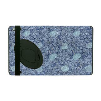 Étui iPad S'est levé le motif bleu blanc