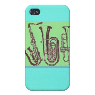 Étui iPhone 4/4S Jazz_Sax_Tuba_Trumpet