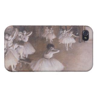 Étui iPhone 4/4S Répétition de ballet d'Edgar Degas | sur l'étape,