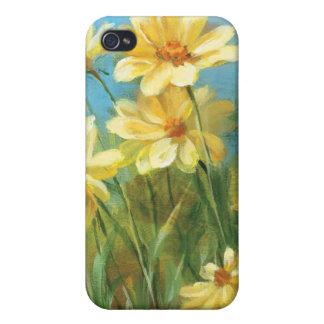 Étui iPhone 4 Belles marguerites jaunes