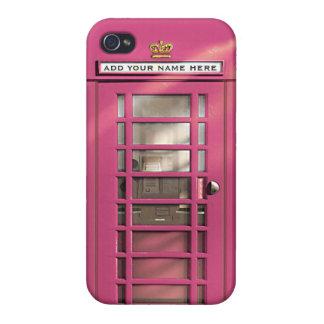 Étui iPhone 4 Boîte rose Girly drôle de téléphone des Anglais