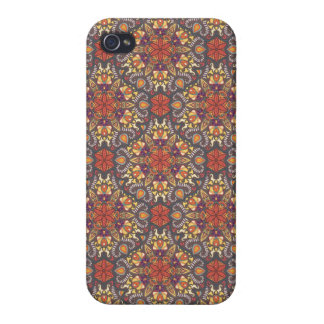 Étui iPhone 4 Motif floral ethnique abstrait coloré de mandala