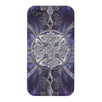 Étui iPhone 4 Pourpre I gothique abstrait avec les noeuds