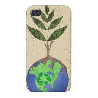 Étui iPhone 4 Réutilisez le coque iphone en bois de grain de
