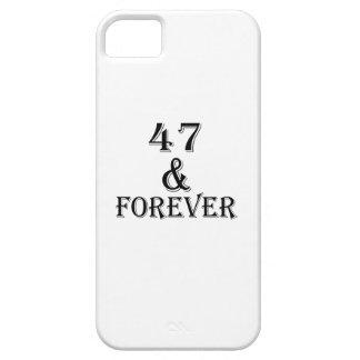 Étui iPhone 5 47 et pour toujours conceptions d'anniversaire