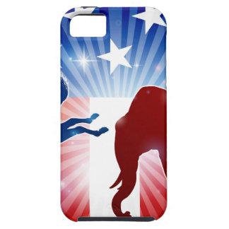 Étui iPhone 5 Âne de combat d'éléphant de silhouette