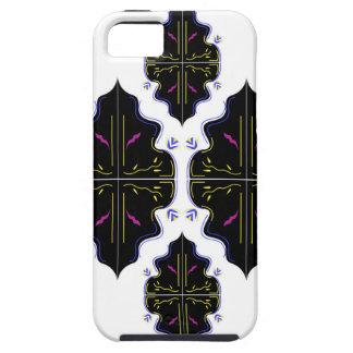 Étui iPhone 5 Art oriental noir et blanc de mandala