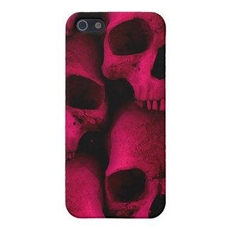 Étui iPhone 5 Caisse rouge de point de crânes
