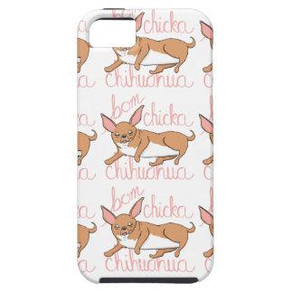 Étui iPhone 5 Calembour drôle de chien de chiwawa de Bom Chicka