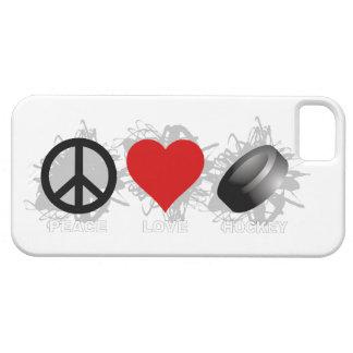 Étui iPhone 5 Cas de l'iPhone 5 d'emblème d'hockey d'amour de