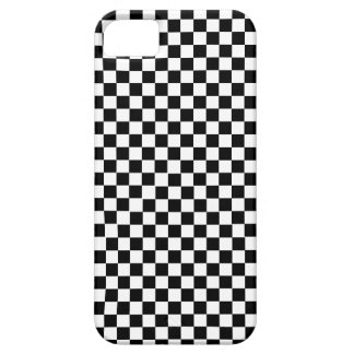 Étui iPhone 5 Checkered blanc noir