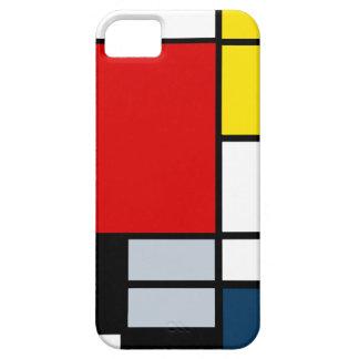 Étui iPhone 5 Composition élevée en recherche Piet Mondrian
