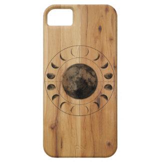 Étui iPhone 5 Conception en bois de cas de téléphone de phases
