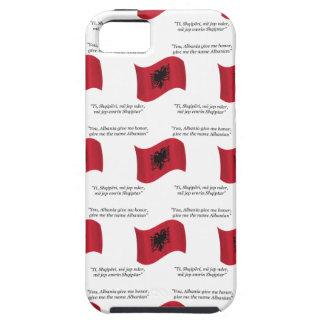Étui iPhone 5 Drapeau albanais et devise