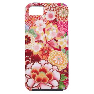 Étui iPhone 5 Éclat floral rouge de Falln