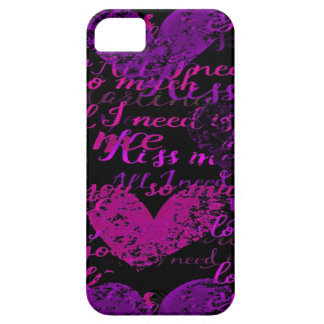 Étui iPhone 5 Embrassez-moi Mlle Me Purple