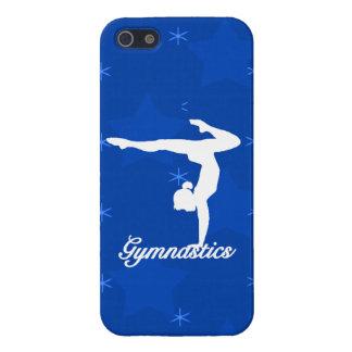 Étui iPhone 5 Étoiles bleues de fille de gymnastique