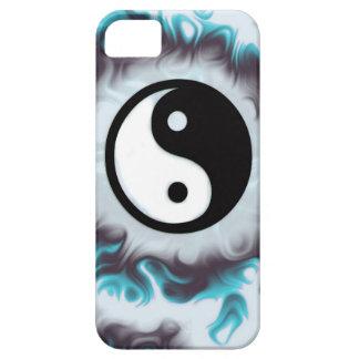 Étui iPhone 5 Flamme de Yin Yang Teal