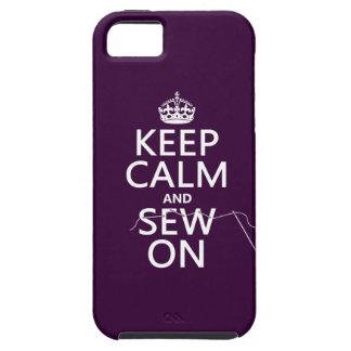 Étui iPhone 5 Gardez le calme et cousez sur (dans toutes les