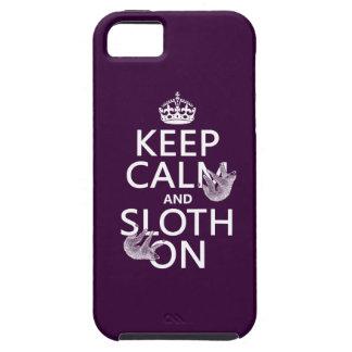 Étui iPhone 5 Gardez le calme et la paresse dessus