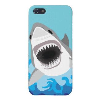 Étui iPhone 5 Grande bande dessinée drôle de requin blanc