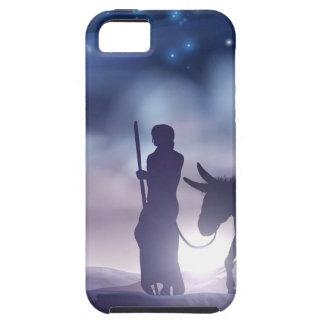 Étui iPhone 5 Illustration Mary et Joseph de Noël de nativité