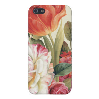 Étui iPhone 5 La vue de jardin a jeté des fleurs en l'air