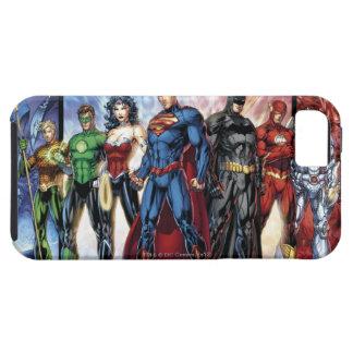 Étui iPhone 5 Ligne de ligue de justice 52 de la ligue de