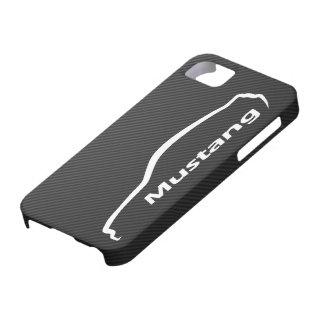 Étui iPhone 5 Logo blanc de silhouette de coupé du GT de mustang
