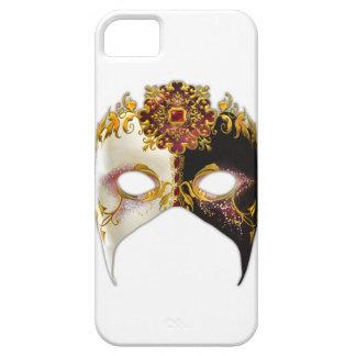 Étui iPhone 5 Masque vénitien : Cas rouge de l'iPhone 5 de bijou