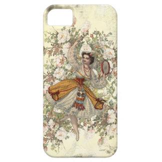 Étui iPhone 5 Mélange floral gitan et match de danse vintage