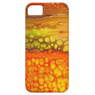 Étui iPhone 5 Mélange rouge de jaune orange d'illustration de