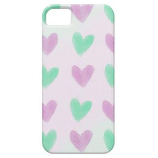 Étui iPhone 5 Motif en pastel de coeurs