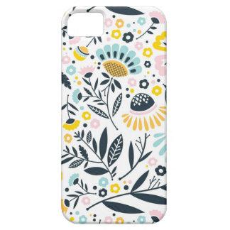 Étui iPhone 5 Motif en pastel floral de jardin géométrique
