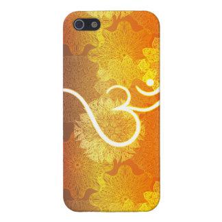 Étui iPhone 5 Motif indien d'ornement avec le symbole d'ohm