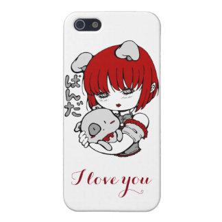 Étui iPhone 5 panda girl : I love you