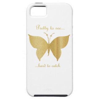 Étui iPhone 5 Papillon de parties scintillantes - assez pour