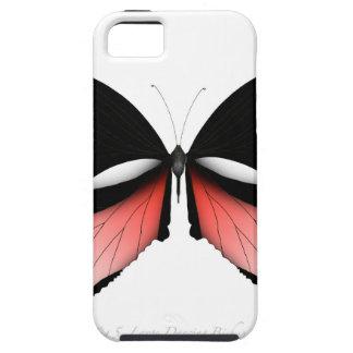 Étui iPhone 5 papillon de rouge de la figue 5 par les fernandes