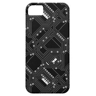 Étui iPhone 5 Rétro carte noire d'ordinateur de cool de blanc