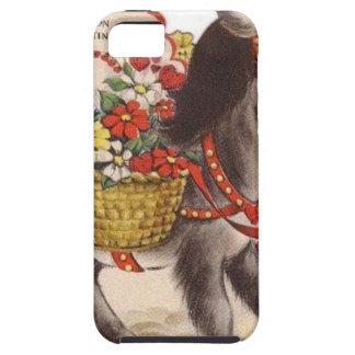 Étui iPhone 5 Rétro petite Saint-Valentin douce vintage d'âne