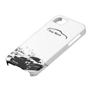 """Étui iPhone 5 Roulement de mustang tiré - """"ajoutez votre propre"""