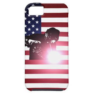 Étui iPhone 5 Soudeuse et drapeau américain